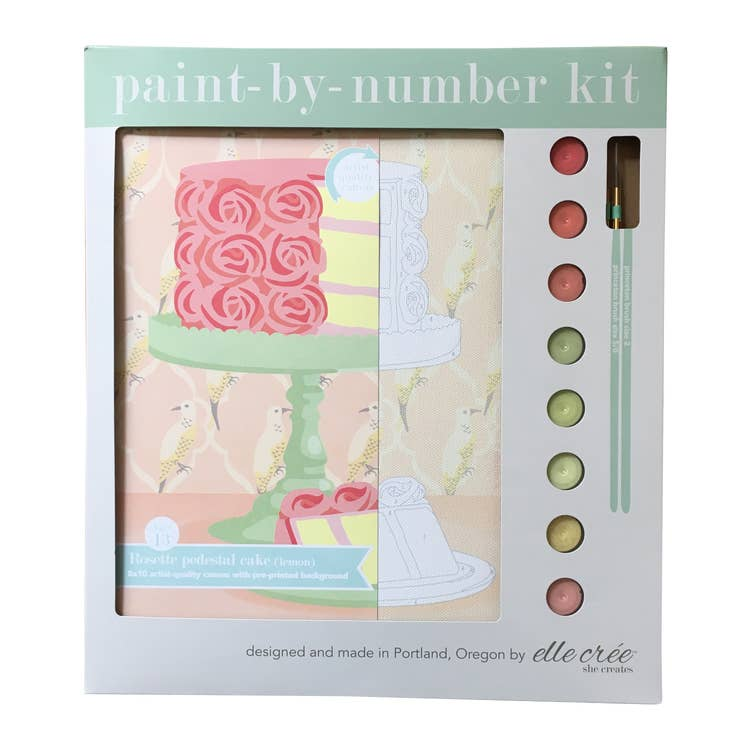 Rosette Cake Paint-By-Number