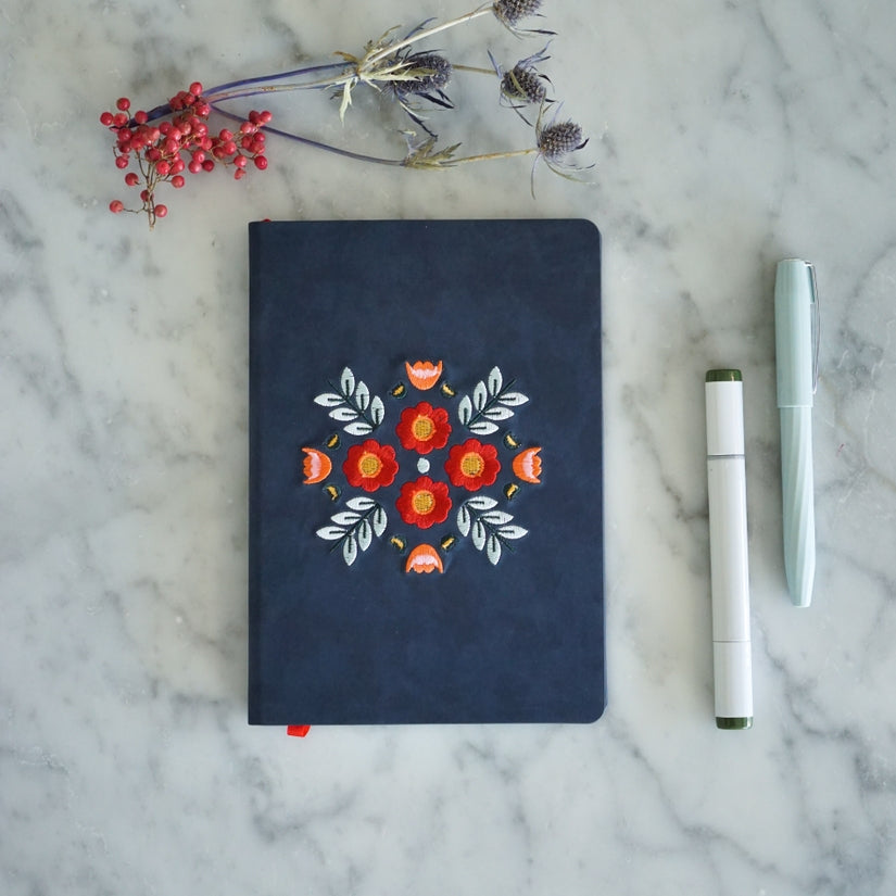 Evelyn Embroidered Journal