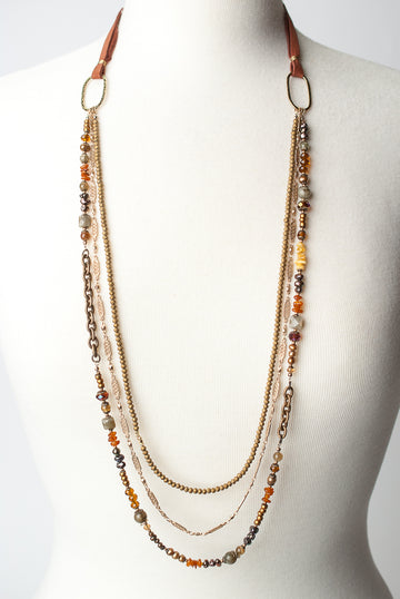 Firelight Multistrand Necklace
