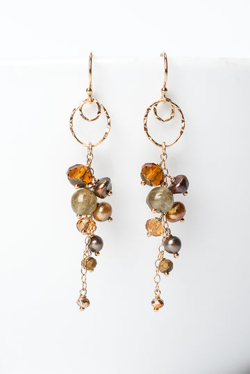 Firelight Cluster Earrings