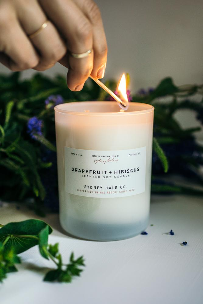 Grapefruit + Hibiscus Candle