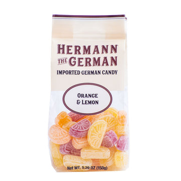 Hermann the German Orange + Lemon Candy