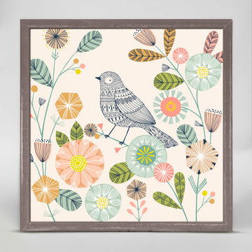 Hiding Bird Mini Canvas