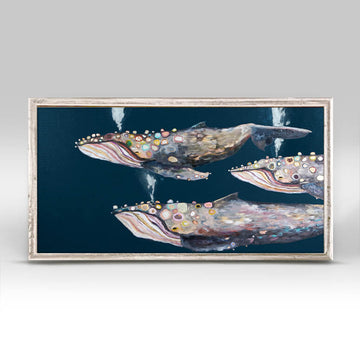 Humpback Whale Pod Mini Canvas