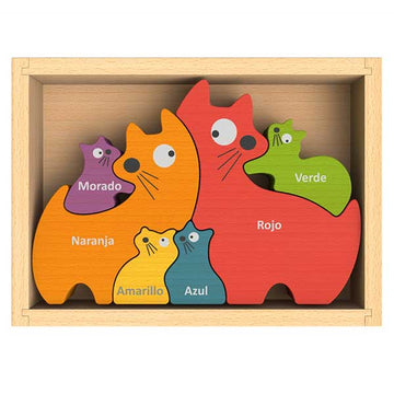 Cat Family Color Puzzle