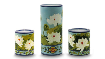 Lotus Blossom Illuminated Candle