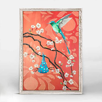 Nesting Hummingbird Mini Canvas