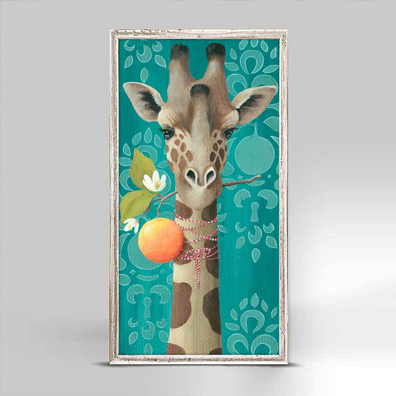 Orange Giraffe Mini Canvas