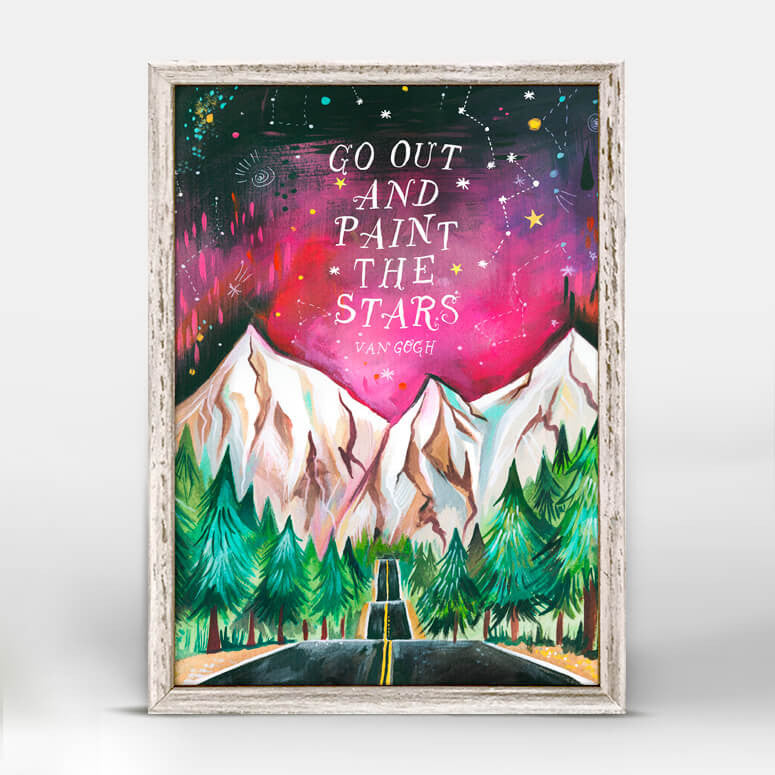 Paint the Stars Mini Canvas