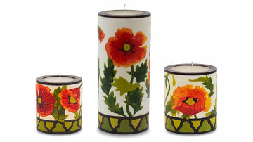 Poppy Illuminated Candle