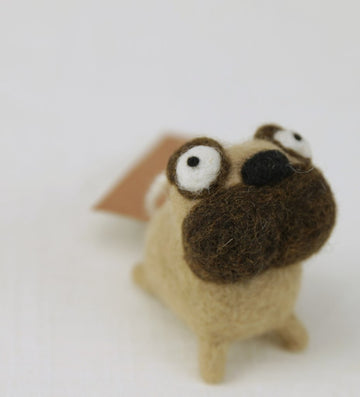 Pug Felty Ornament