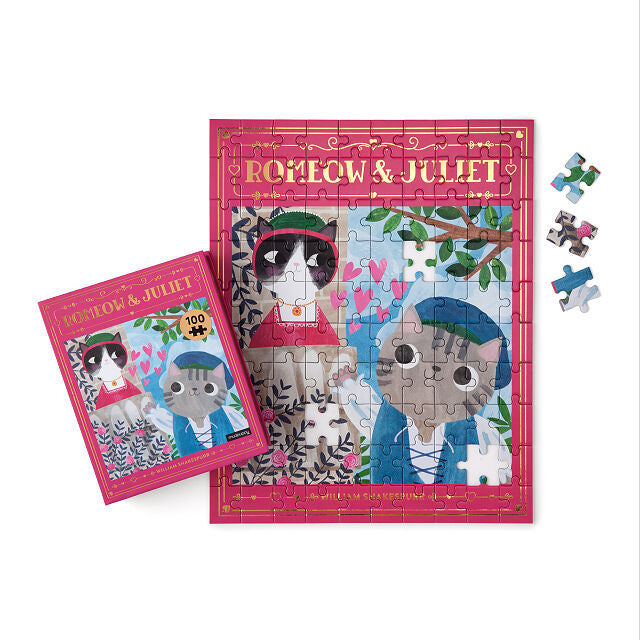 Bookish Cats 100 Pc Puzzle Collection