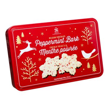 Peppermint Bark Snowflake Tin