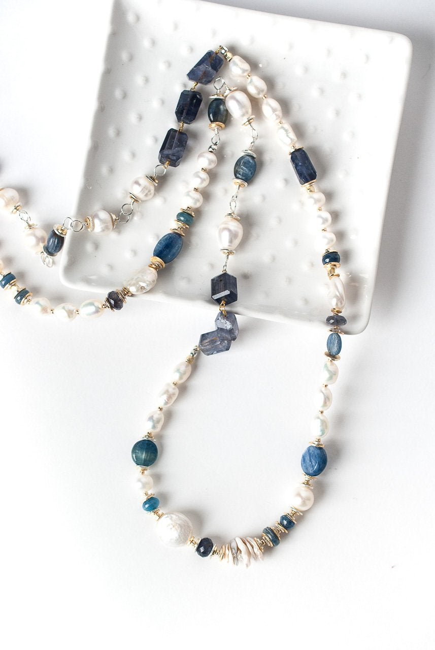 Seaside Long Collage Necklace