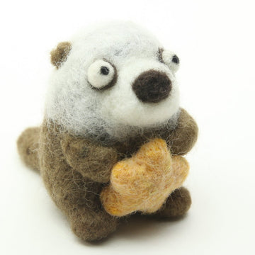 Sea Otter Felty Ornament