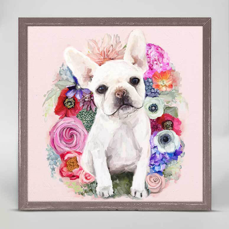 Floral Frenchie Mini Canvas
