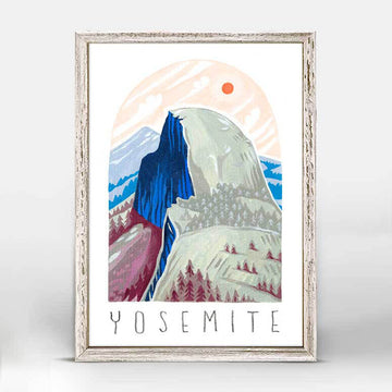 Yosemite Half Dome National Park Mini Canvas