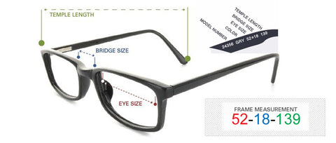 82de8fcb07a0 Frame sizing for your Online Fashion Eyewear Purchase – Front Row ...