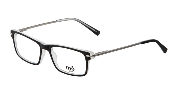 Mo Eyewear  Black and Silver Prescription Eyeglasses