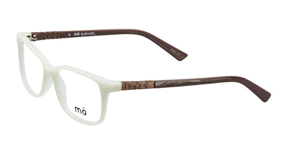 Mo Eyewear Bone and Taupe Acetate Eyeglasses