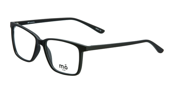 Mo Eyewear Matte Black Big Square Eyeglass Frames