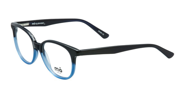 Mo Eyewear Black and Blue Round RX Eyeglasses