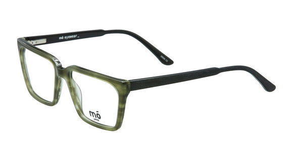 Mo Eyewear Green and Black Square Eyeglass Frame