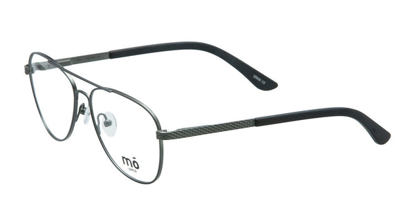 Mo Eyewear Gunmetal and Black Aviator Style Eyeglasses