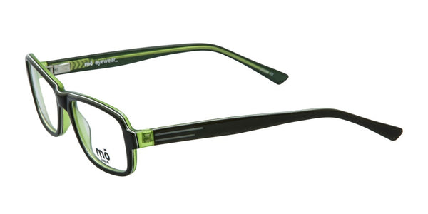 Mo Eyewear Black and Green Acetate Eyeglasses