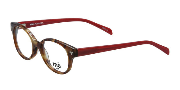 Mo Eyewear Tortoise and Red Round Eyeglass Frames