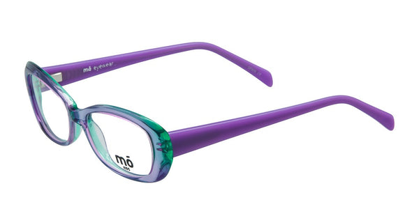 Mo Eyewear Purple and Green Kids Eyeglasses