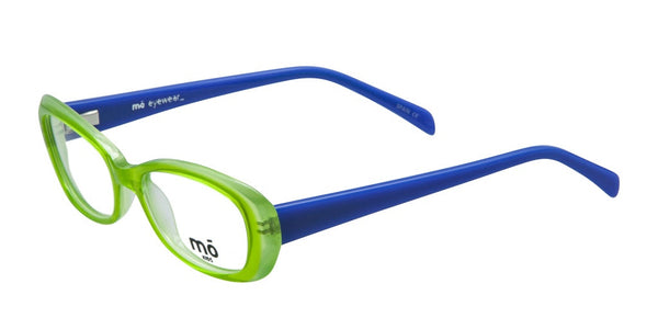 Mo Eyewear Green and Blue Kids Prescription Eyeglasses