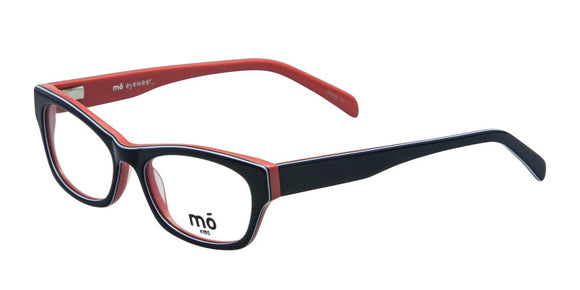 Mo Eyewear Navy and Salmon Acetate Eyeglass Frames