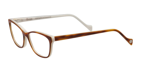 Acidulee Cat Eye glasses in Tortoise and White