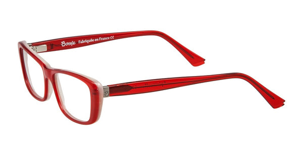 Spirituelle - French Red Eyeglasses with White Interior