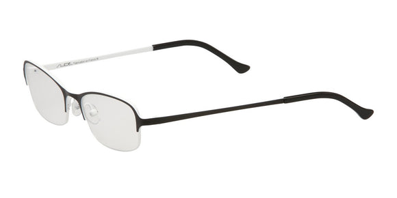 Slide Nova Black and White Half Rim Frames