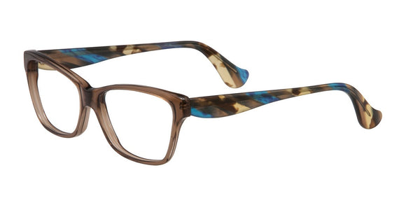 Slide Fereo Brown and Blue Acetate Eyeglass Frame