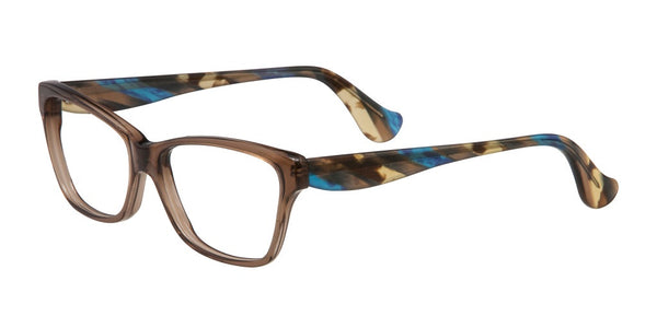 Slide Brown and Blue Acetate Eyeglass Frame
