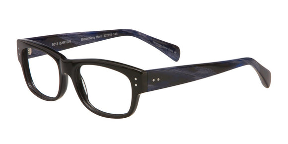 Deja-Vu Black and Navy Marble Plastic Eyeglasses