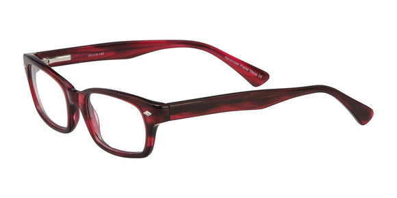Elan Cherry Red and Black Plastic Eyeglass Frames