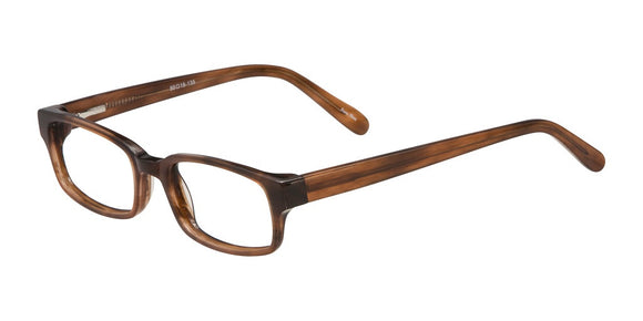Elan Brown Plastic Prescription Eyeglasses