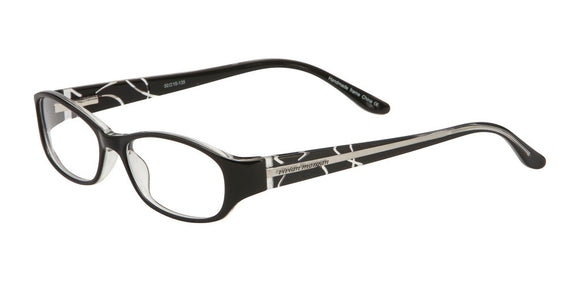 Dante - Vivian Morgan Black Crystal Oval Eyeglasses