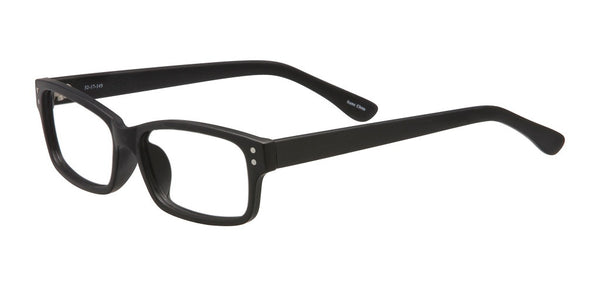 PRIVATE LABEL Black Rectangular Plastic Eyeglass Frame Gisli