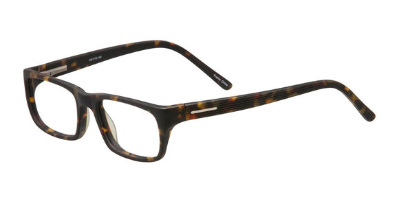 PRIVATE LABEL Matte Tortoise Rectangular Eyeglass Frame Giva