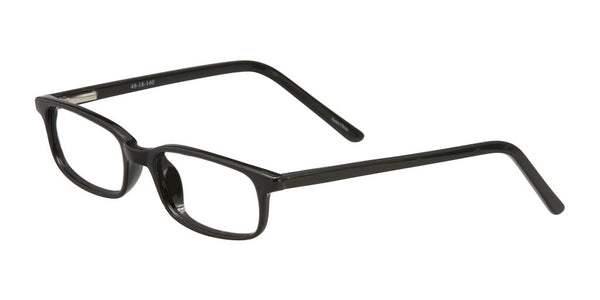 PRIVATE LABEL Black Slim Plastic Eyeglass Frame Greer