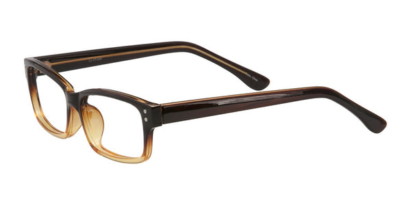 PRIVATE LABEL Brown Fade Plastic Rectangular Eyeglass Frames Gorkem