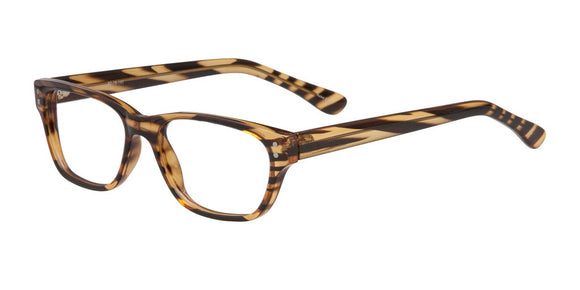 Hagan Tiger Stripped Plastic Prescription Eyeglasses