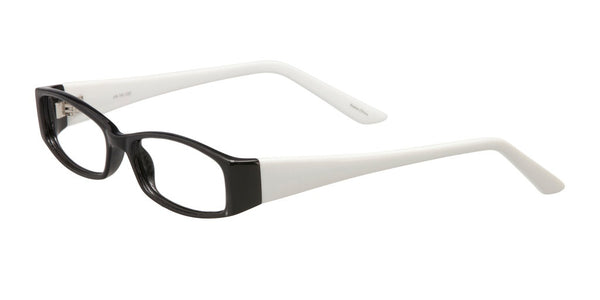 PRIVATE LABEL Black and White Plastic Eyeglass Frame Halen