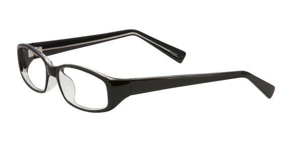 PRIVATE LABEL Black Plastic Rectangle Eyeglass Frame Hayes