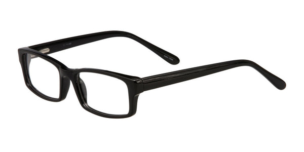 PRIVATE LABEL Black Plastic Rectangle Eyeglass Frame Hein
